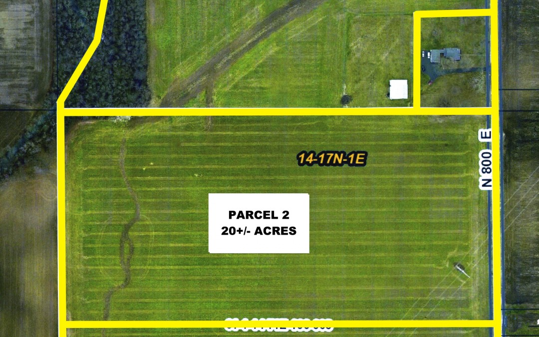 Land Auction 59.5+/- Acres 10792 N. County Road 800 East, Brownsburg Indiana